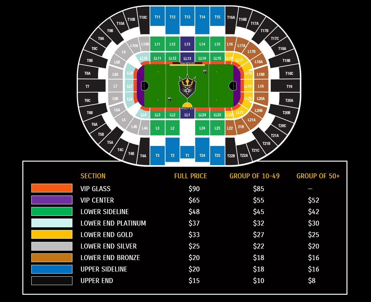 seals group ticket map